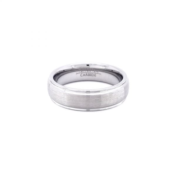 Tungsten Silver Ring
