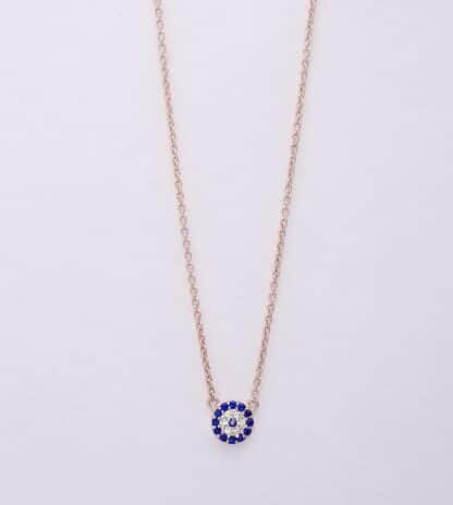 Collier d'opale d'or rose