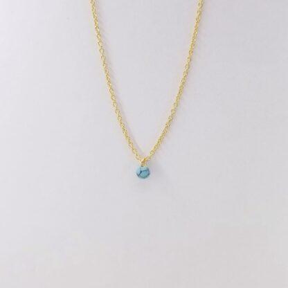 Collier en marbre bleu or